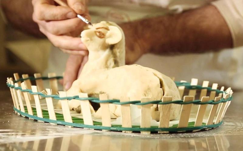 Niente Pasqua senza agnello pasquale (di marzapane)